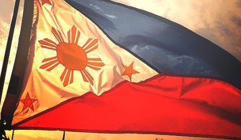 Philippine Flag Waving