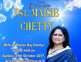 Obituary Ps Maisie Chetty