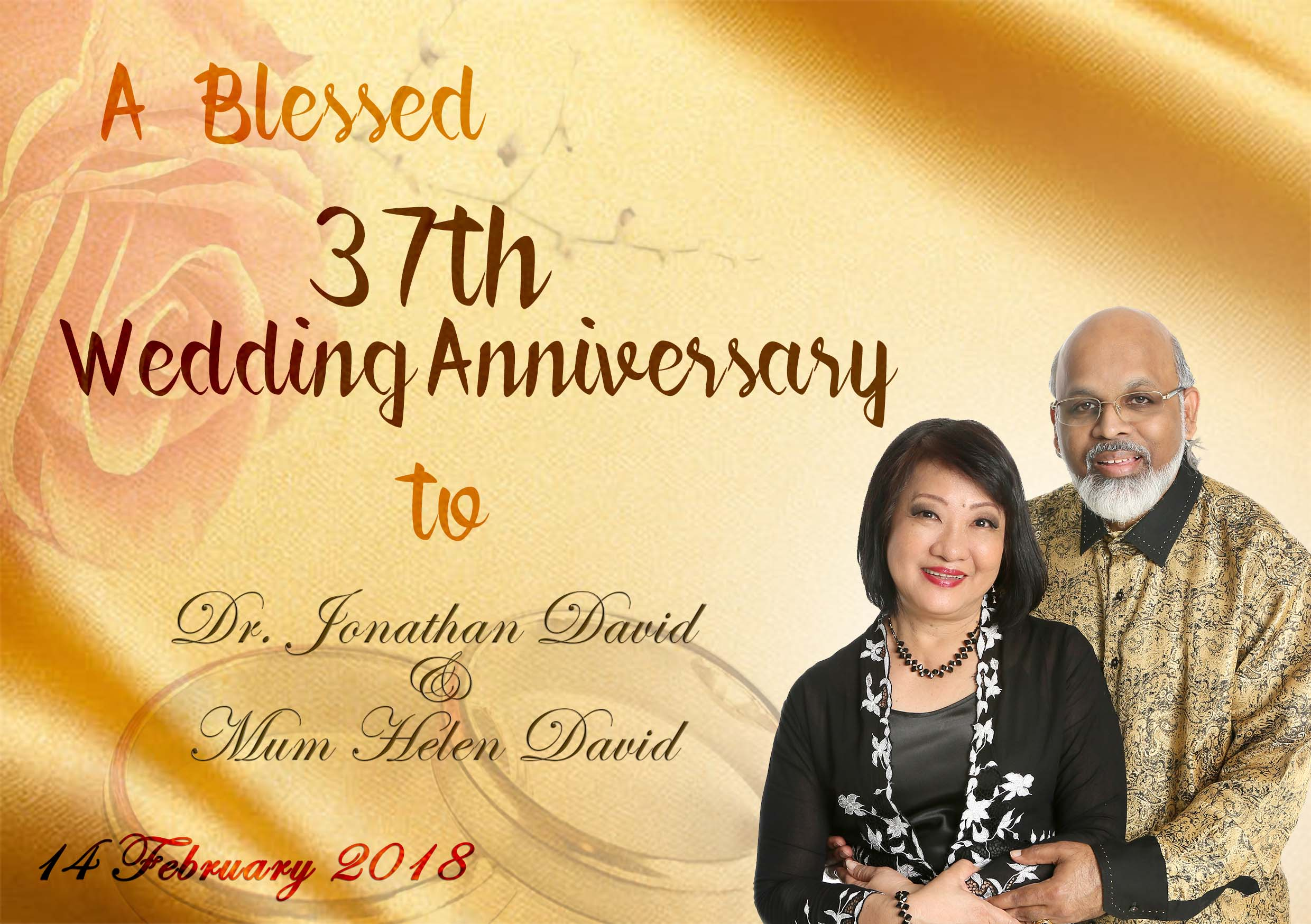 37th Wedding Anniversary Gifts: Blessed 37th Wedding Anniversary